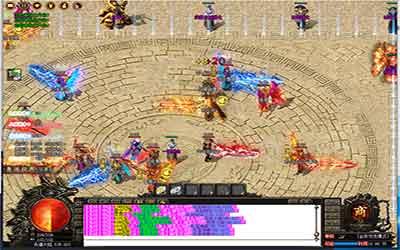玩家可以在冰雪传奇单机版试炼场地图刷BOSS