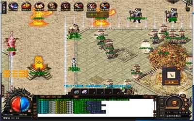 玩家进入热血传奇变态神陵密室主题活动的路线