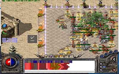 玩家在微变传奇世界挂机可以迅速刷副本