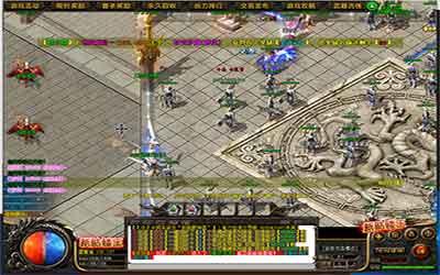 玩家可以去暗黑超变传奇的藏宝阁打BOSS